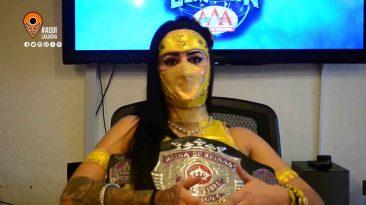 Entrevista a Lady Shani previo a Guerra de Titanes AAA 2018. Aquí La Lucha