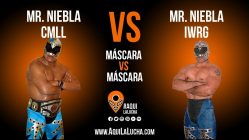 Mr Niebla vs Mr. Niebla IWRG, máscara vs máscara. Aquí La Lucha
