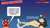 L.A. Park le da paliza a Rush en la Arena México, caricatura de kcidis
