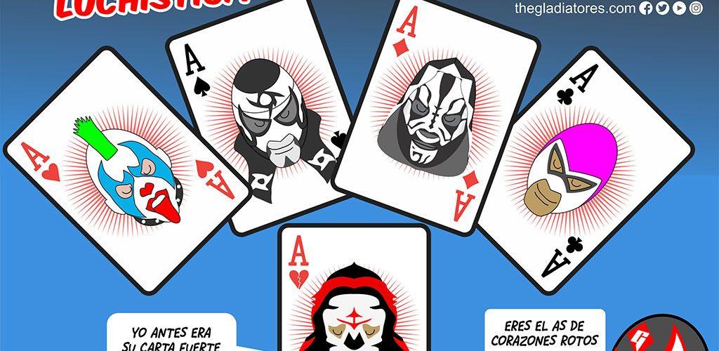 lucha libre aaa, psycho clown, penta 0M, L.A. Park, hijo del fantasma, La Parka, carton de kcidis