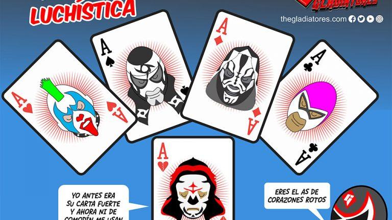 Poker De Ases Caricatura De Lucha Libre Aqui La Lucha