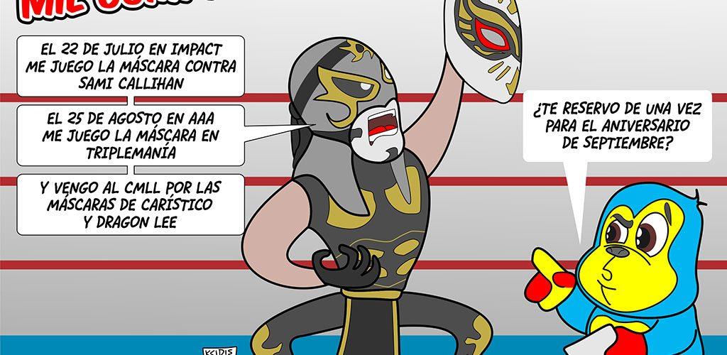 luchador penta zero m, caricatura de kcidis, aqui la lucha