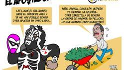 l.a.park gana la máscara del hijo del fantasma, dibujo por kcidis