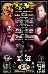cartel de lucha libre, satanico vs solar, aqui la lucha