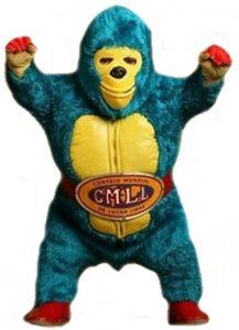 kemonito, mascota del consejo mundial de lucha libre, aqui la lucha