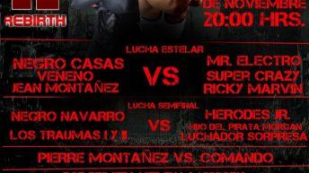 Cartel de la función de lucha libre en la Arena Atizapán de Zaragoza. Aquí La Lucha
